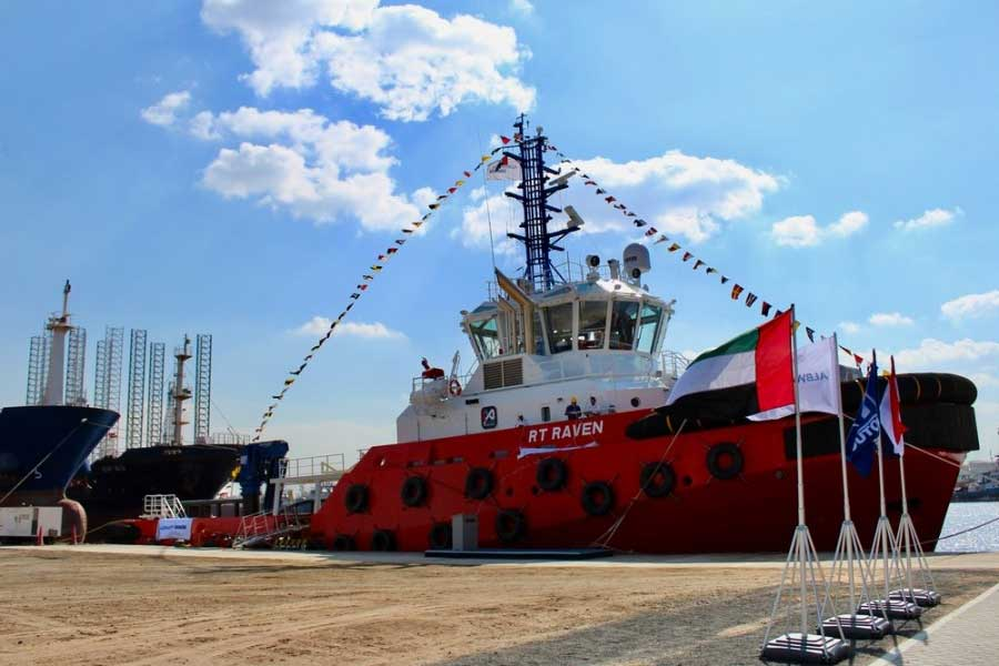 Worlds biggest Rotortug named at Albwardy Damen