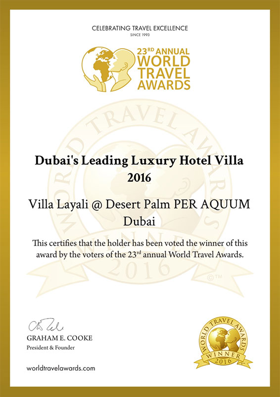 Dubais Leading Luxury Hotel Villa