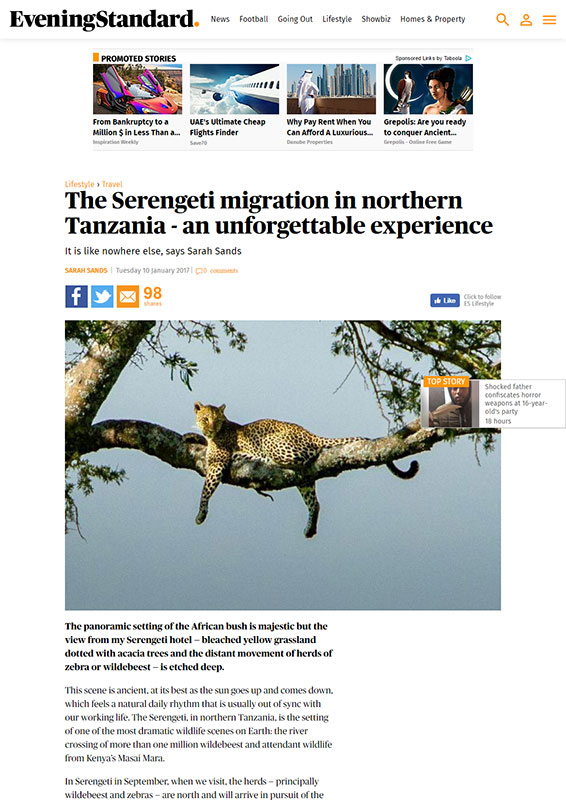 Tanzania London Evening Standard